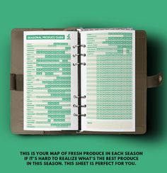 bullet journal ideas:  Seasonal Produce guide Cheat Sheet ▹ for Midori Travellers notebook Regular size Printable PDF  ▹ Easy on the wallet ▹ It's the Taste That Counts ▹
