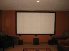 Projector Screen Ideas Living Rooms Man Cave 48 Ideas For 2019 Home Theater Setup, Home Theater Rooms, Home Theater Seating, Diy Movie Theater Room, Cinema Room, Dyi, Man Cave Basement, Home Theater Projectors, Ideias Diy