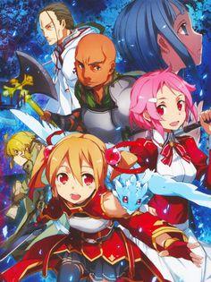 Silica with Pina, Lisbeth, Argil, Argo, Sachi & Kuradeel ~ Aincrad Arc (set2/2) (by abec)