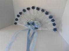 Fan+Bouquet+Blue+Lace+Bridal+Bouquet+Navy+by+TrulyUniqueBouquets,+$40.00