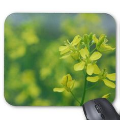 Simple Floral Mouse Pad