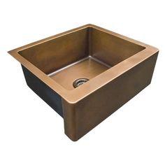 "Barclay FSCSB3132-SAC Julienne 37"" Single Bowl Copper Farmer Sink"