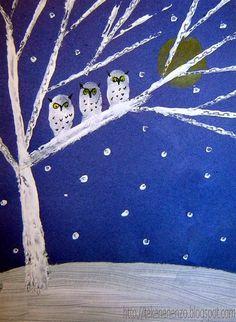 Onderwijs en zo voort ........: 0803. Wintercrea : bomen met uilen