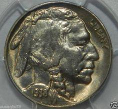 1938 D/S Buffalo Nickel. Semi-Rare. PCGS MS65. $165.00 Free Shipping!