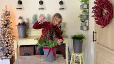 Christmas Arrangements, Will Smith, Christmas Diy, Gardens, Country, Simple, Rural Area, Outdoor Gardens, Country Music