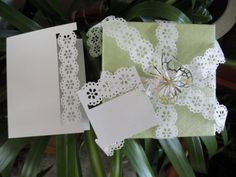 Lace Gift Wrap by KraftyNoteAbles on Etsy