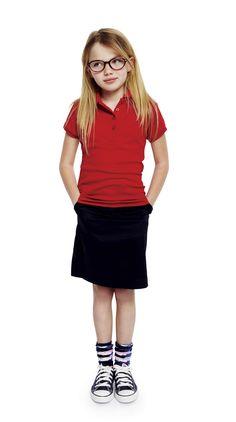 preppy with an attitude -- girls polo