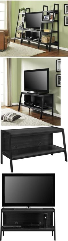 Entertainment Units TV Stands: Tv Stand Lawrence Black Storage 45 In. Entertainment Center Modern Home Decor -> BUY IT NOW ONLY: $113.99 on eBay!