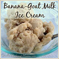 Banana Goat Milk Ice Cream II CradleRockingMama.com