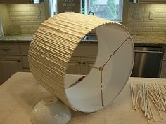 Bamboo lampshade can paint first