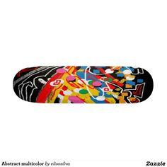Abstract multicolor tablas de patinar