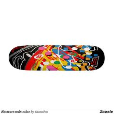 Abstract multicolor tablas de patinar