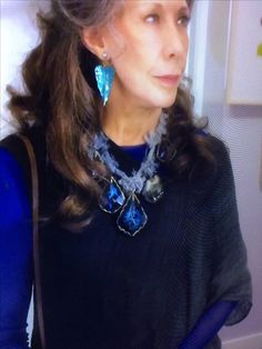 Necklace by Adina Mills as worn by Lilly Tomlin in Grace and Frankie on Netflix.