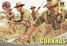 Gurkhas British Army Figure Set 1-72 by Airfix