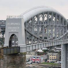 Royal Albert Bridge a railway bridge which spans the River Tamar between Devon & Cornwall designed by Isambard Kingdom Brunel in 1859.#ukcoastwalkPhoto: Quintin Lake www.theperimeter.uk