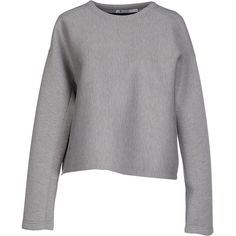 T By Alexander Wang Sweatshirt ($235) ❤ liked on Polyvore featuring tops, hoodies, sweatshirts, light grey, rayon tops, long sleeve tops, t by alexander wang, t by alexander wang sweatshirt and viscose tops
