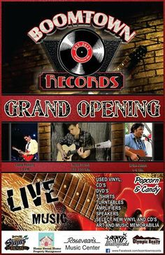 Brian James Hey Grays Harbor!! I am so excited to play my first show on the harbor in 3 years spend some time at the old stomping ground at an amazing new Record store for their Grand opening on April 19th!! I'll be playing from 4pm-6pm!! The address is 201 E Wishkah (We are in the back of the Wiitimaki's jewelry building. Side Entrance directly across from the D&R Theatre)