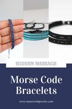 Beaded bracelets that look equally good for women and for men, that promote positive, meaningful feelings while making personal statements more intriguing through Morse Code #morsecodebracelets #bracelets #handmade #beadedjewelry Beaded Wrap Bracelets, Handmade Bracelets, Beaded Jewelry, Personal Statements, Morse Code Bracelet, Meaningful Gifts, Bracelet Making, Seed Beads, Natural Gemstones