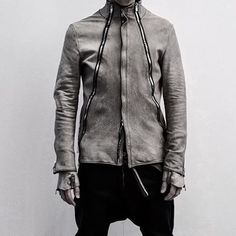 gray leather jacket by Incarnation