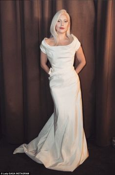 Lady Gaga stuns in ivory gown at Hollywood Foreign Press event in LA 47e651aab