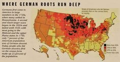 A map of German ancestry in the U.S.