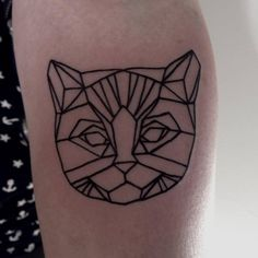 #cat #tattoo #geometric