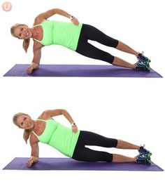 A side plank lift and lower works your abs effectively.