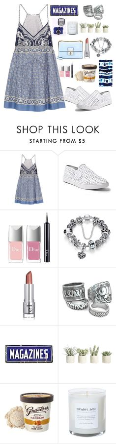 """""""Untitled #1602"""" by anarita11 ❤ liked on Polyvore featuring Chloé, Steve Madden, Christian Dior and Allstate Floral"""
