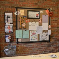 For the basement stairs hall -  thanks, Postcards from the Ridge: Mission Organization: Family Command Center