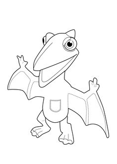 dinosaur coloring page for kids printable free dinosaur train toy