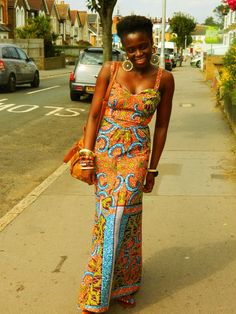 maxi dress from kitenge