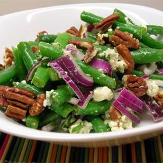 """Green Bean Blue Cheese SaladI """"This recipe was awesome. The flavor of the blue cheese and balsamic vinegar was very good."""""""