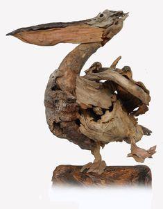 Birds - Bird Sculptures with Driftwood - Tony Fredriksson Open Sky Wood Art White River, Mbombela, Mpumalanga, South Africa Driftwood Fish, Driftwood Sculpture, Bird Sculpture, Animal Sculptures, Wooden Sculptures, Driftwood Furniture, Driftwood Projects, Beach Wood, Beach Art