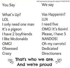 That's who we are.  And we're proud. xx