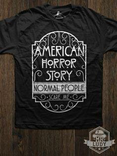 Camiseta American Horror Story - Normal people scare me