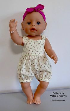 Baby Doll Rompers Valspierssews Doll Clothes Pattern Easy