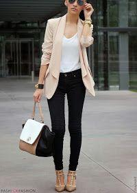 Blazer + skinny
