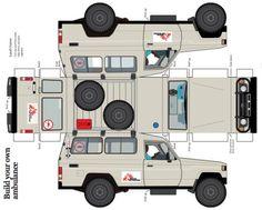 Medecins Sans Frontieres Toyota Land Cruiser Ambulance Paper Model by Toyota UK…