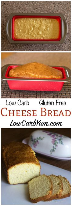 A low carb gluten free bread recipe that is quick and easy to make. Uses a blend of cheese, almond and coconut flours. LCHF Keto savory bread.