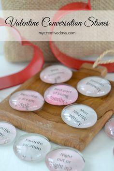 mycreativedays: Valentine Conversation Stones {+ Free Printable}