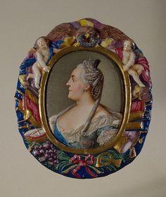 Portrait of Catherine II - Andrey Ivanovich Chyorny