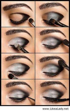 Makeup with grey