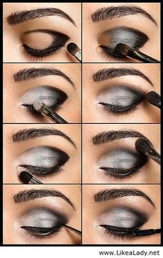 Love using grey eyeshadow (makes my pale blue eyes a little richer in color)