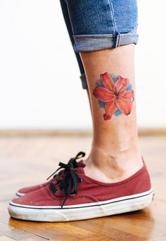 78b27e216 Adorable cutie lilly flower temporary tattoo by tattooednow! Shop yours  today @tattooednow Lilly Flower