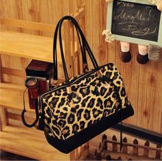 Free shipping Cat bag fashion superacids luxury leopard print color block decoration fashion large capacity women's handbag-in Others from Luggage & Bags on Aliexpress.com $16.59