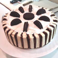 Delicious homemade ice cream cake