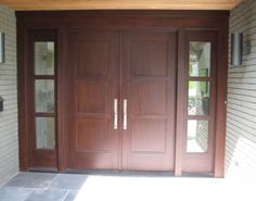 Simple and Elegant Double Entry Doors