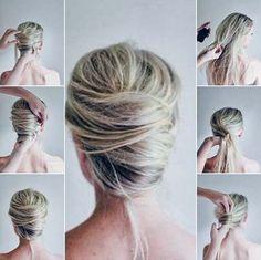 TOP Penteados tipo coque em lindas fotos e vídeo tutorial passo-a-passo de como fazer esse lindo estilo de cabelo! #penteadosparafesta #coque #salaovirtual