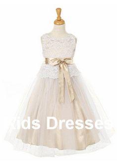 ALine Princess Flower Girl Dress New Years Dress by kidsdresses, $45.99
