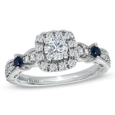 Royal blue was our wedding color. Blue sapphires are also a symbol of love everlasting. This is my ring.
